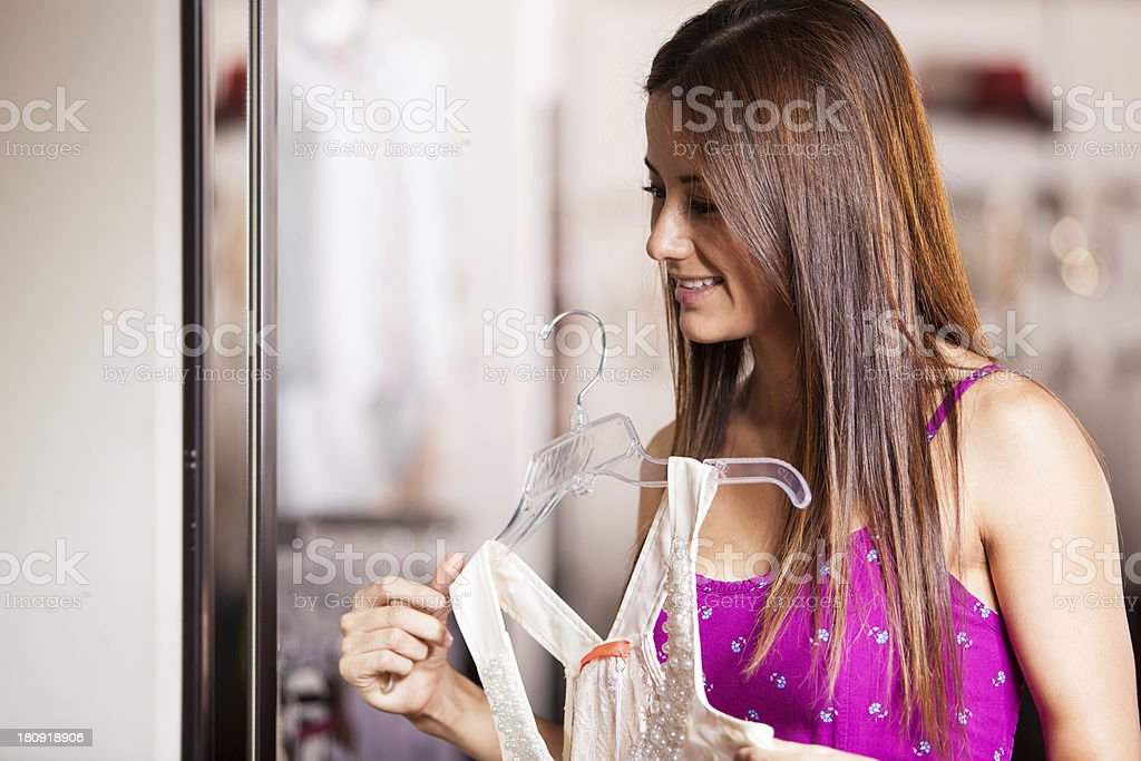 I like this dress so much! royalty-free stock photo