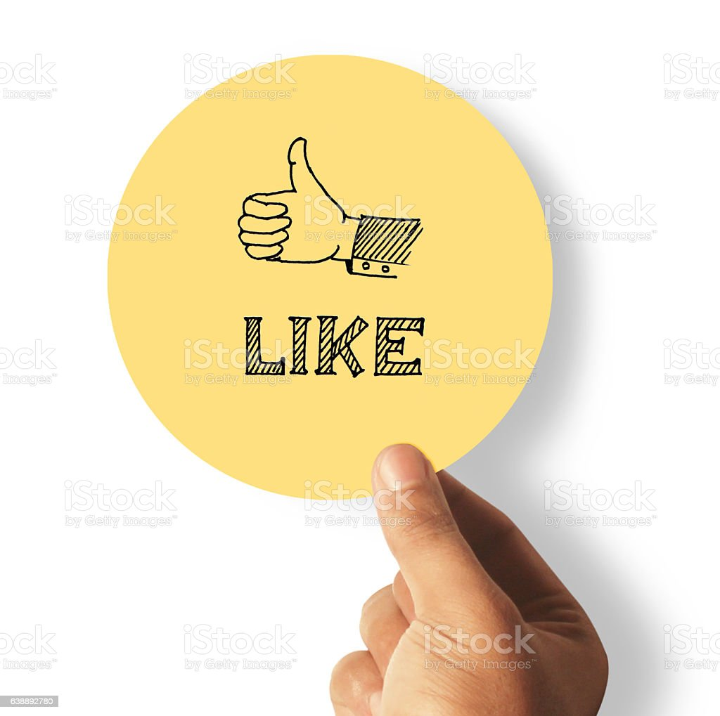 Like, thumb up stock photo