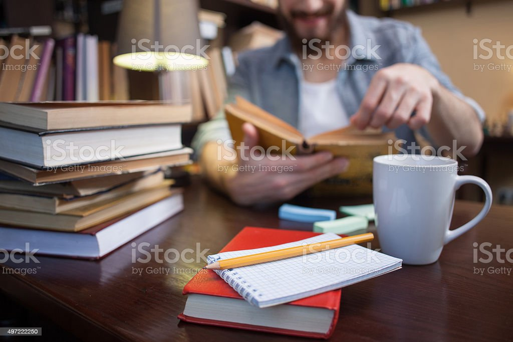 I like to study in this place stock photo