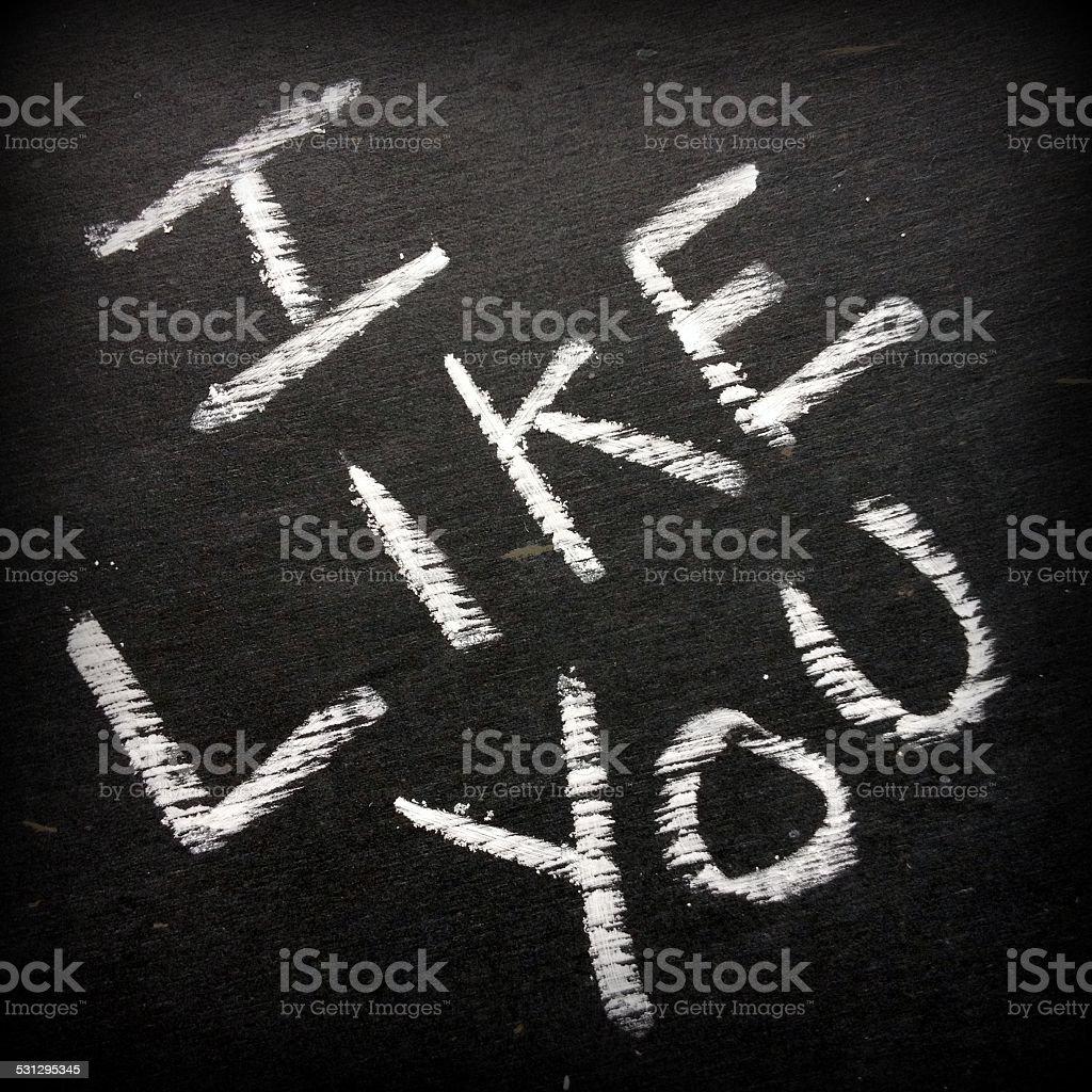 I Like You stock photo