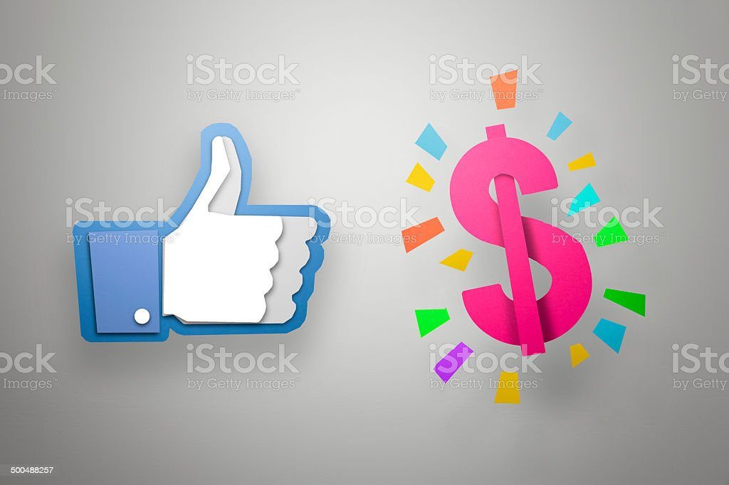 Liking the Dollar!! – Paper Graphics Series stock photo