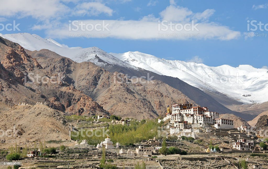 Likir Buddhist Monastery (Gompa) stock photo