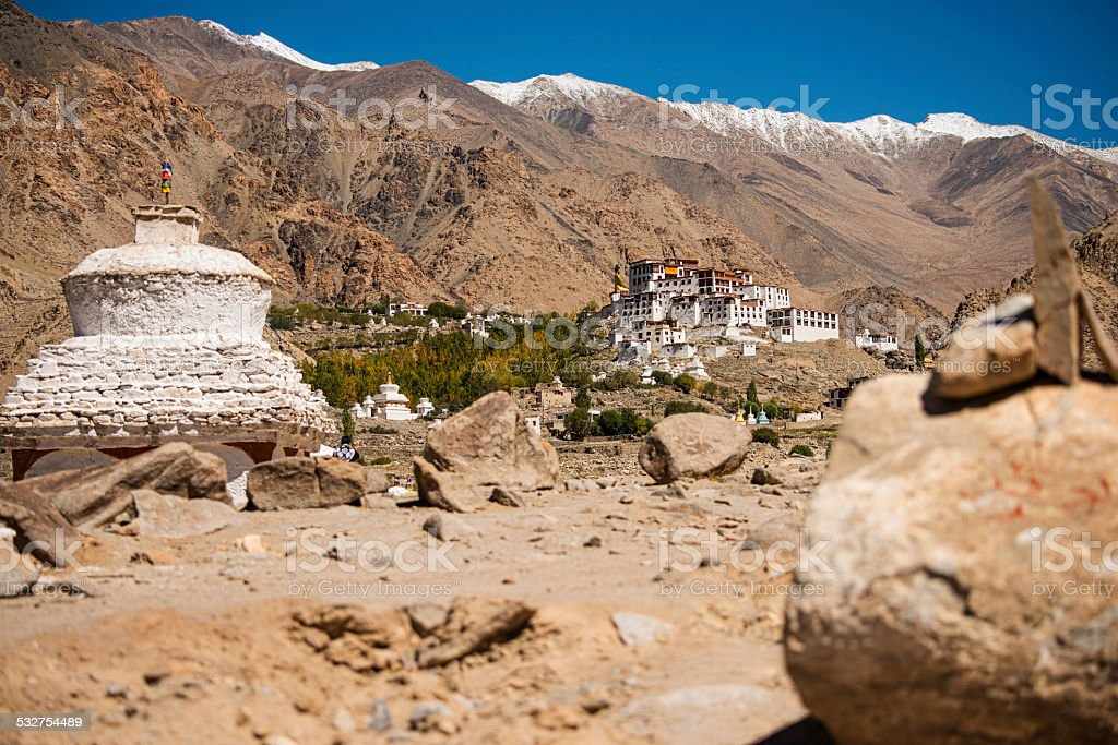Likir Monastery Ladakh ,India - September 2014 stock photo