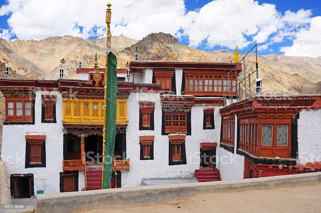 Likir Monastery, Ladakh stock photo