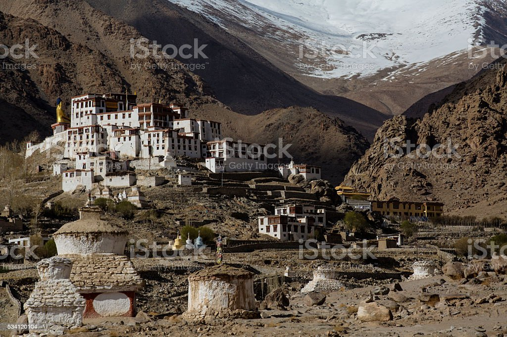 Likir Monastery, Leh Ladakh, India stock photo