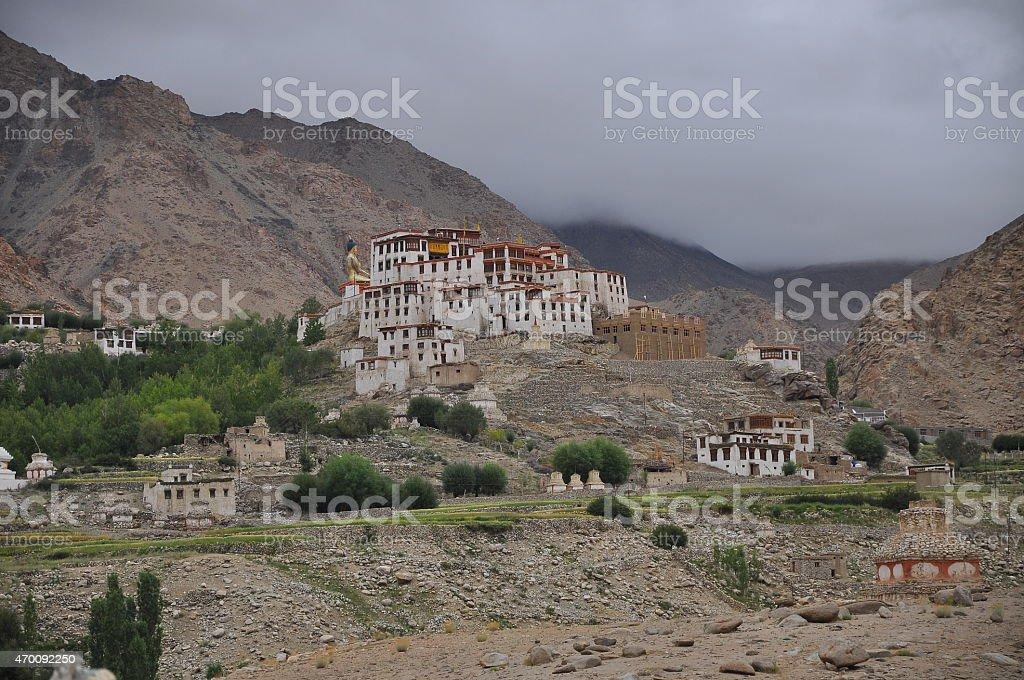 Likir Monastery stock photo