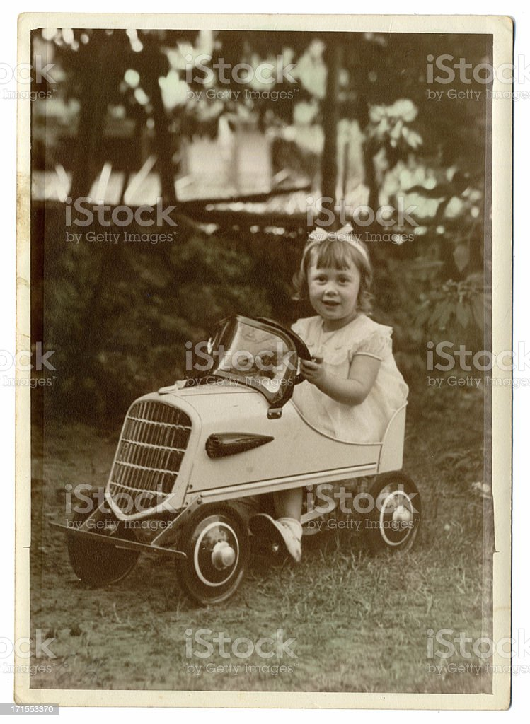lil girl in car royalty-free stock photo