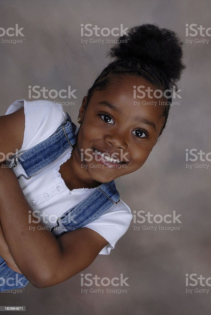 lil kid exit stage left stock photo