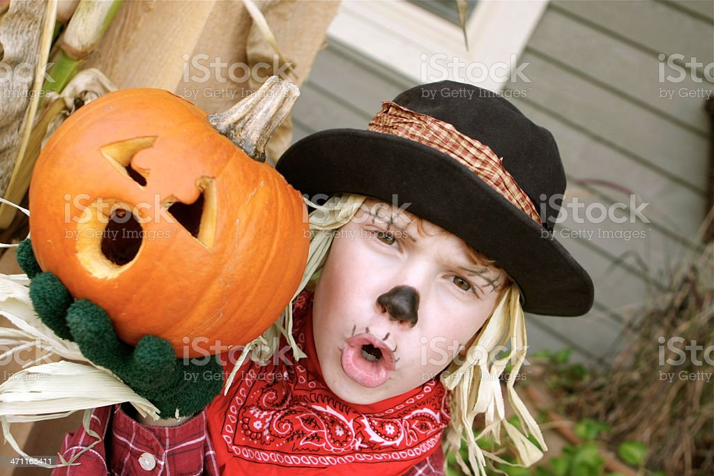 Lil' Scarecrow royalty-free stock photo