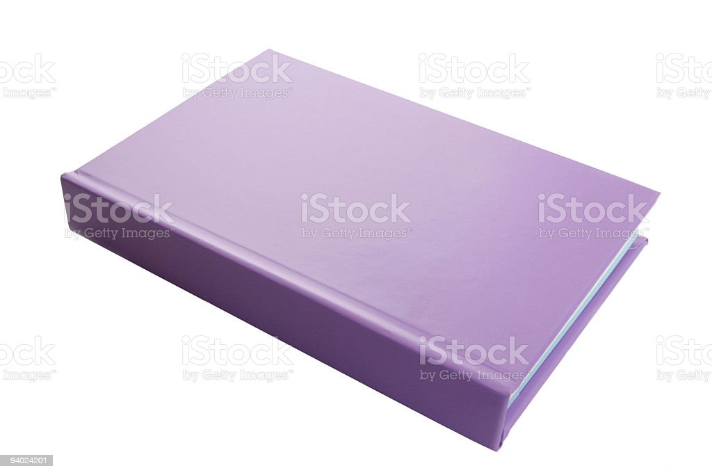 Lilac book/notebook royalty-free stock photo