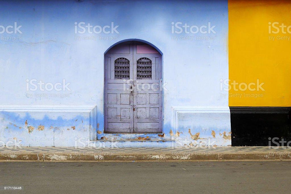 Lilac Door stock photo