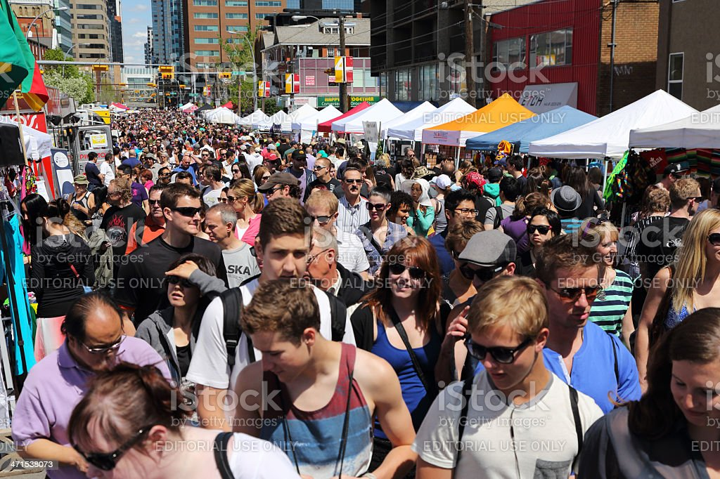 Lilac Festival in Calgary royalty-free stock photo