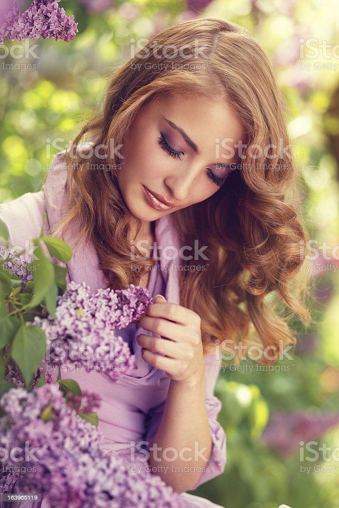lilac girl royalty-free stock photo