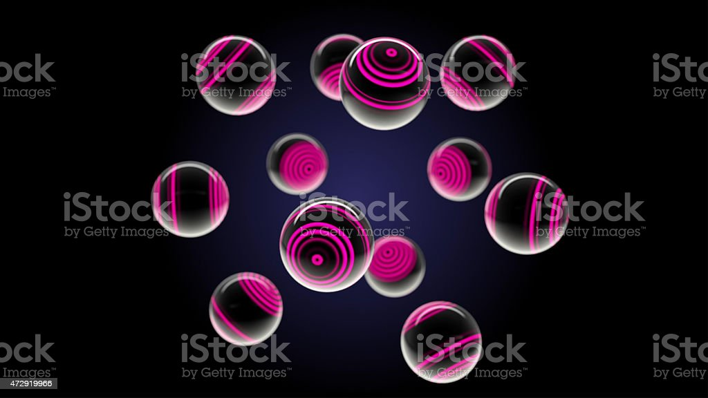 lilac glass spheres stock photo