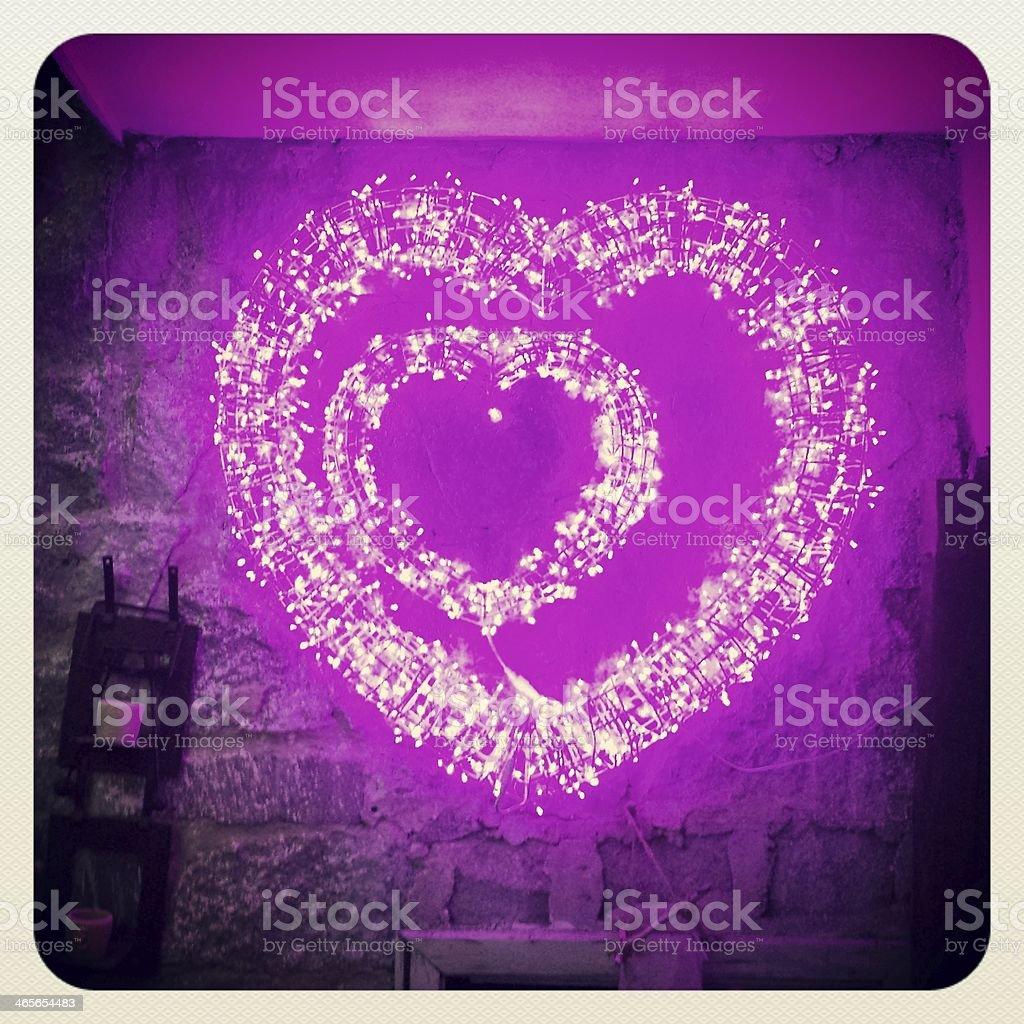 Lilac hearts royalty-free stock photo