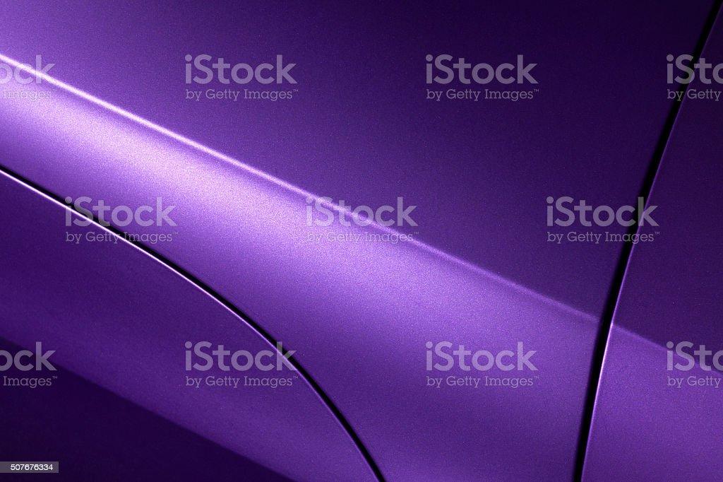 Lilac sedan bodywork stock photo