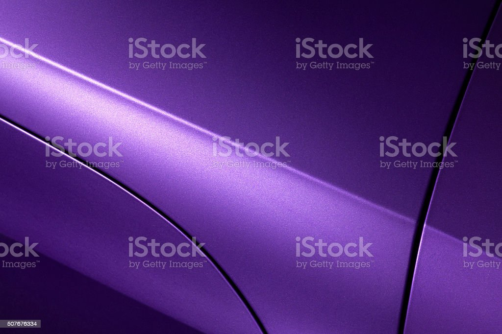 Lilac sedan bodywork stock photo