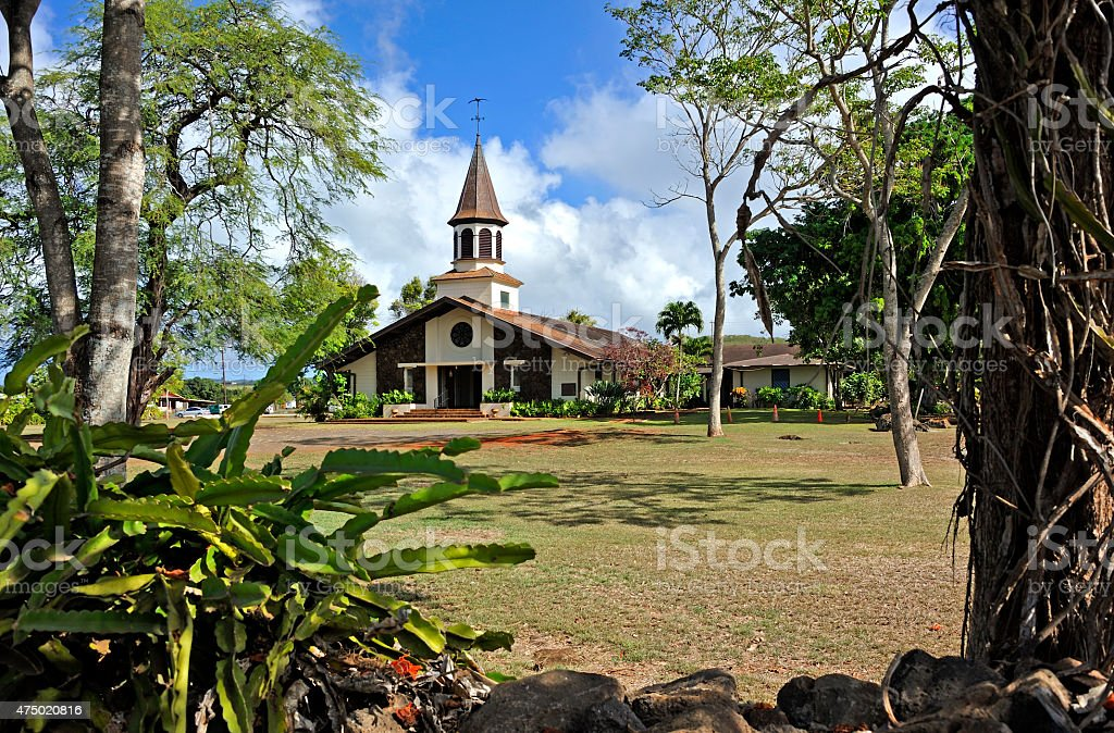 Liliuokalani Church stock photo