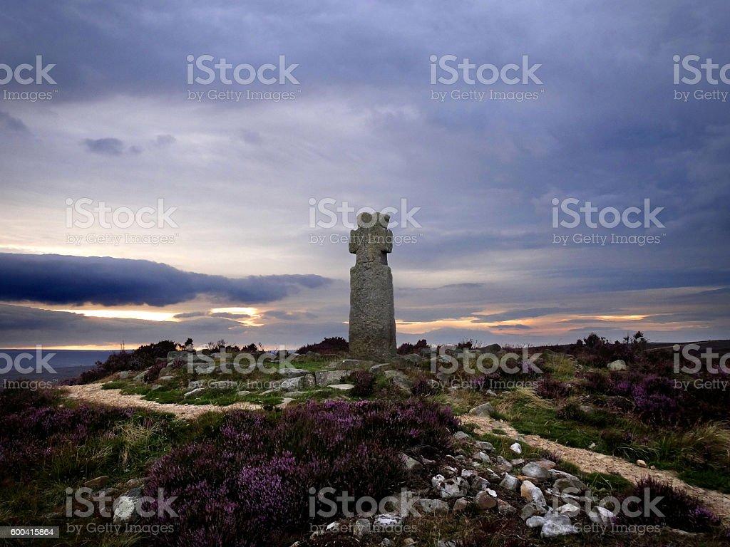 Lilla Cross in North Yorkshire stock photo