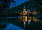 Lillafured palace night view