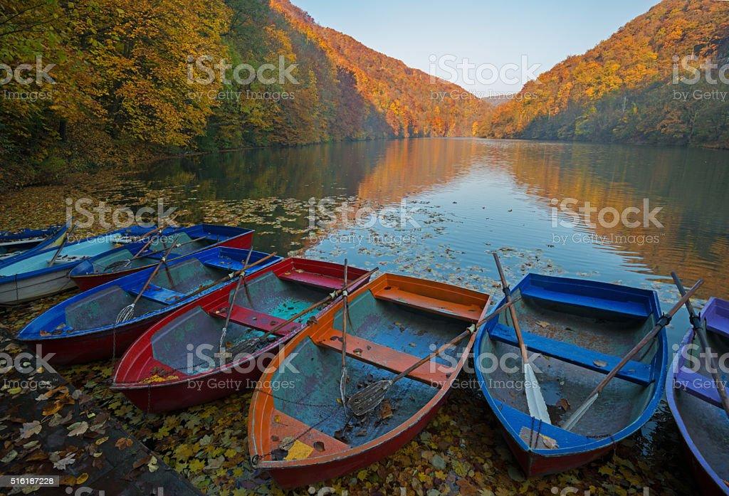 Lillafured tourist resort in autumn season stock photo