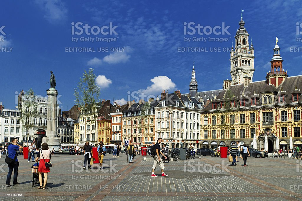 Lille Grand Place stock photo