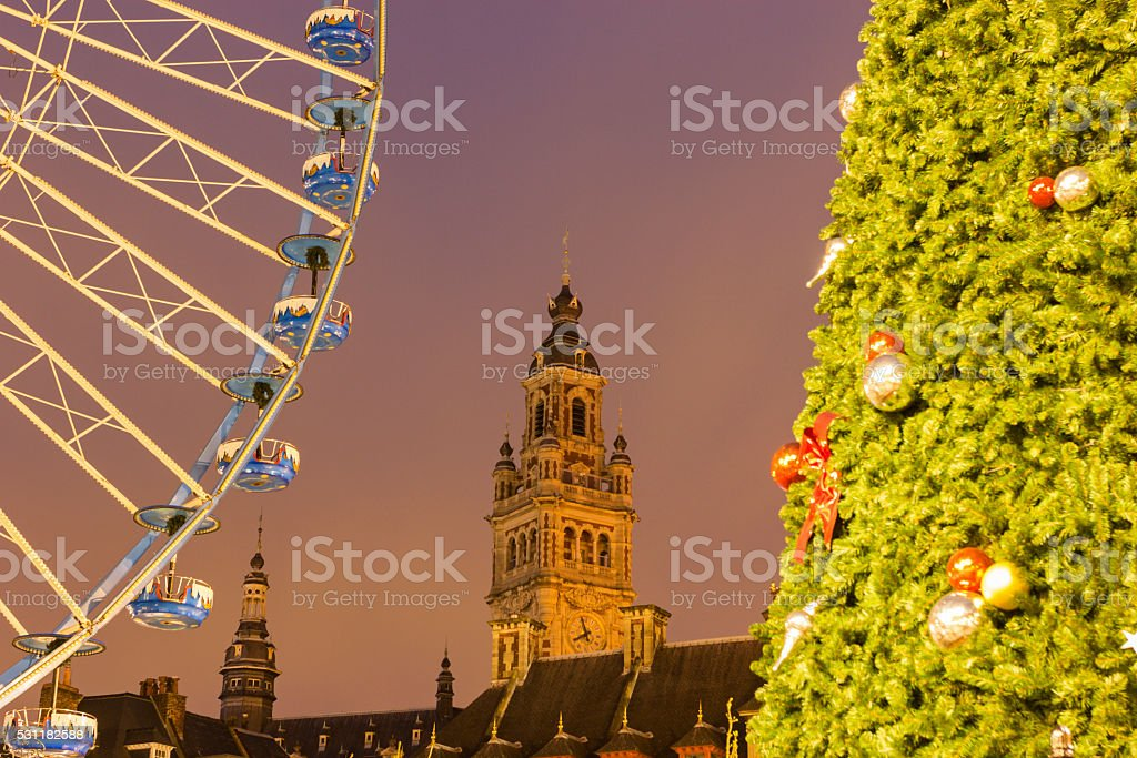 Lille in France during Christmas stock photo