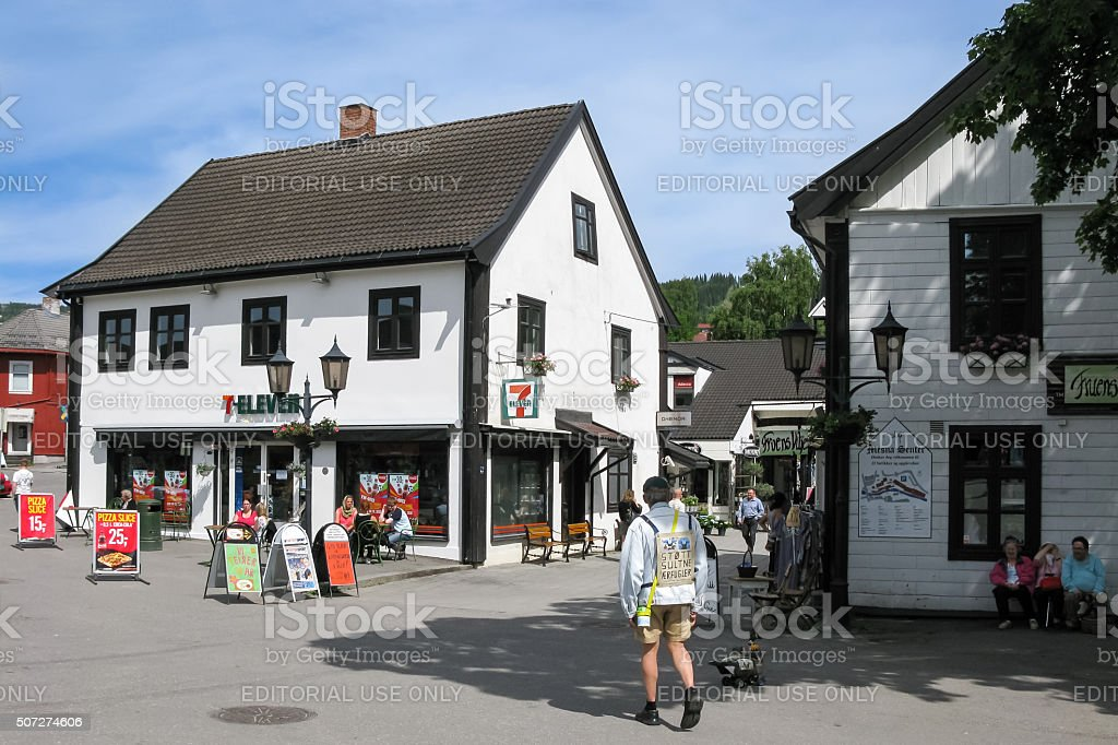 Lillehammer city centre, Norway stock photo