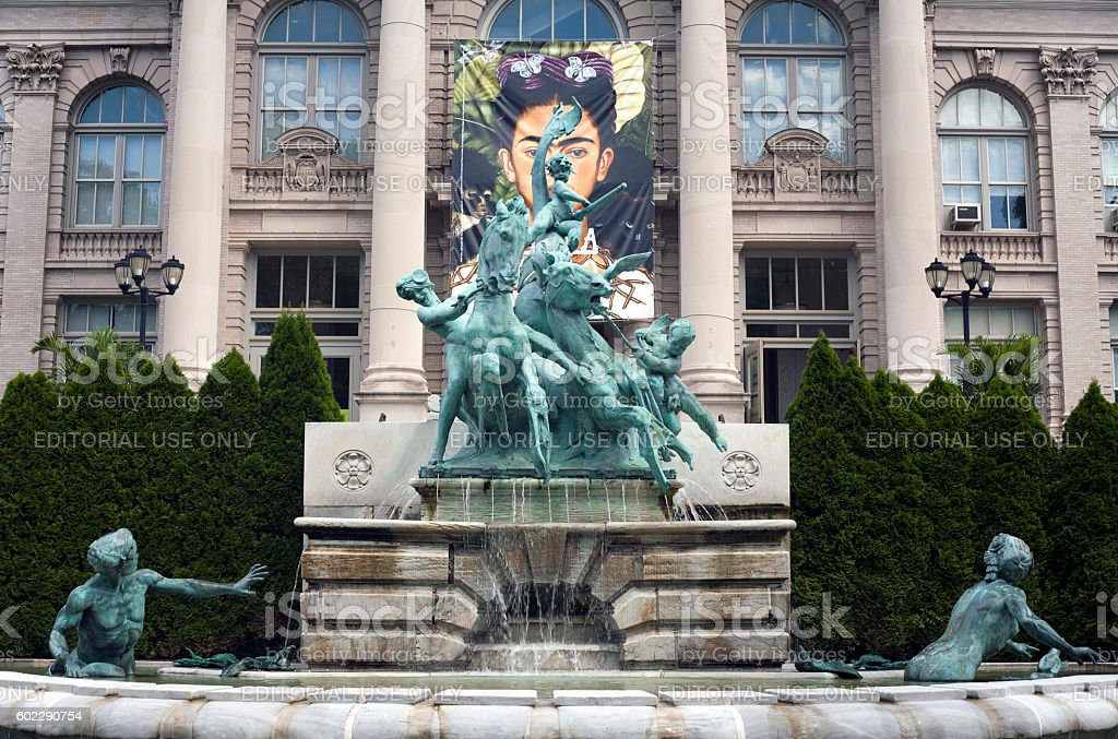 Lillian Goldman fountain of life stock photo