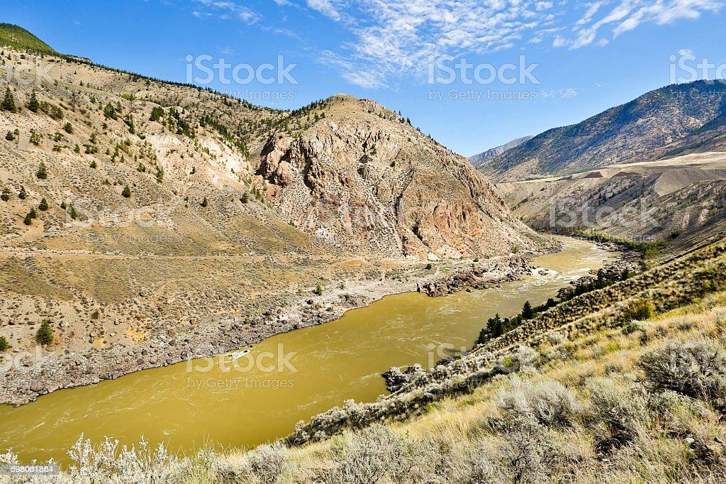 Lillooet British Columbia Canada Fraser River stock photo