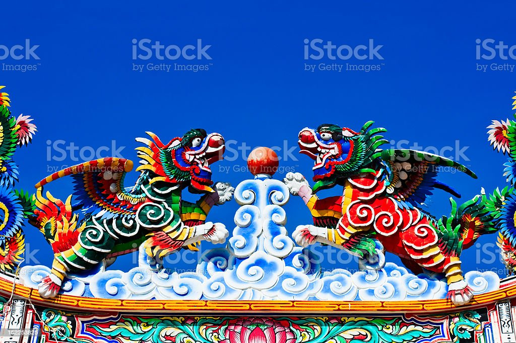Lilon statues in Chinese style royalty-free stock photo
