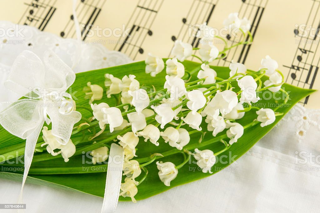 Lily of the valley flowers bouquet
