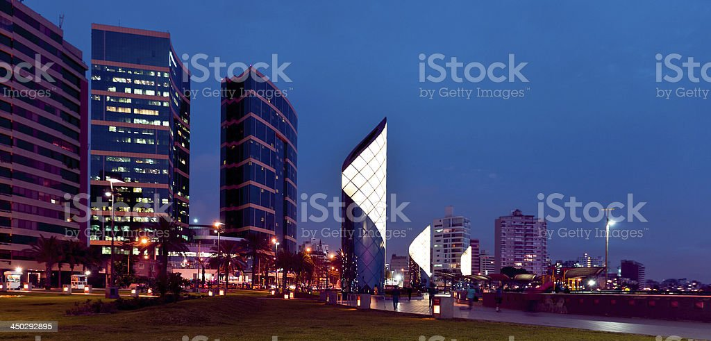 Lima by Night stock photo