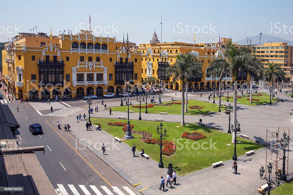 Lima historical Center stock photo