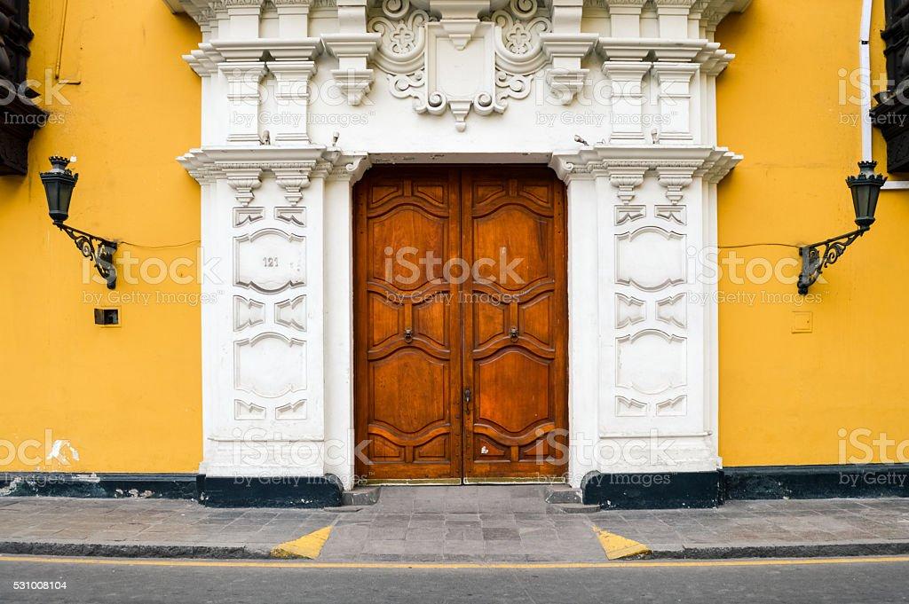 Lima, Peru - Colorful Colonial Architecture stock photo