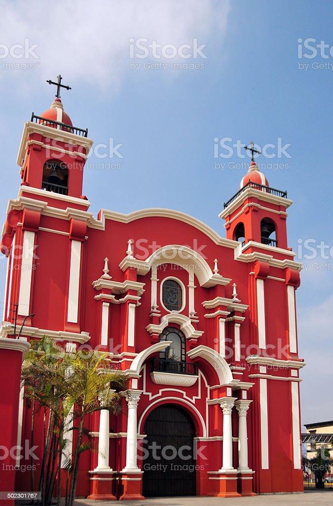 Lima, Peru: Santa Rosa church stock photo
