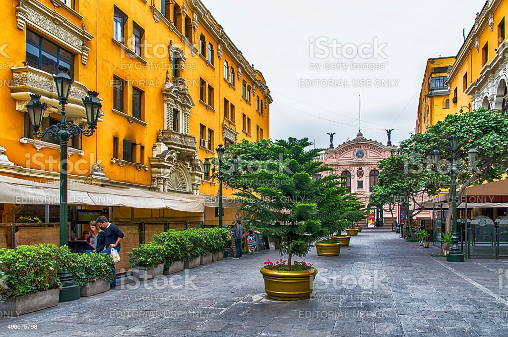 Lima Shopping Street stock photo