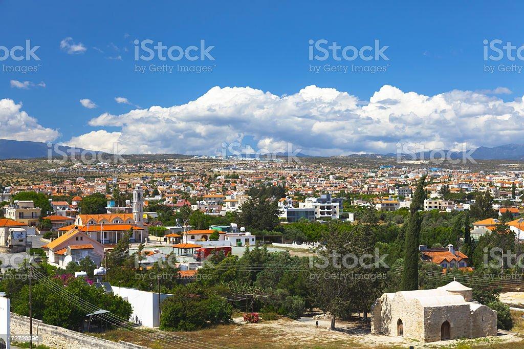 Limassol city view stock photo