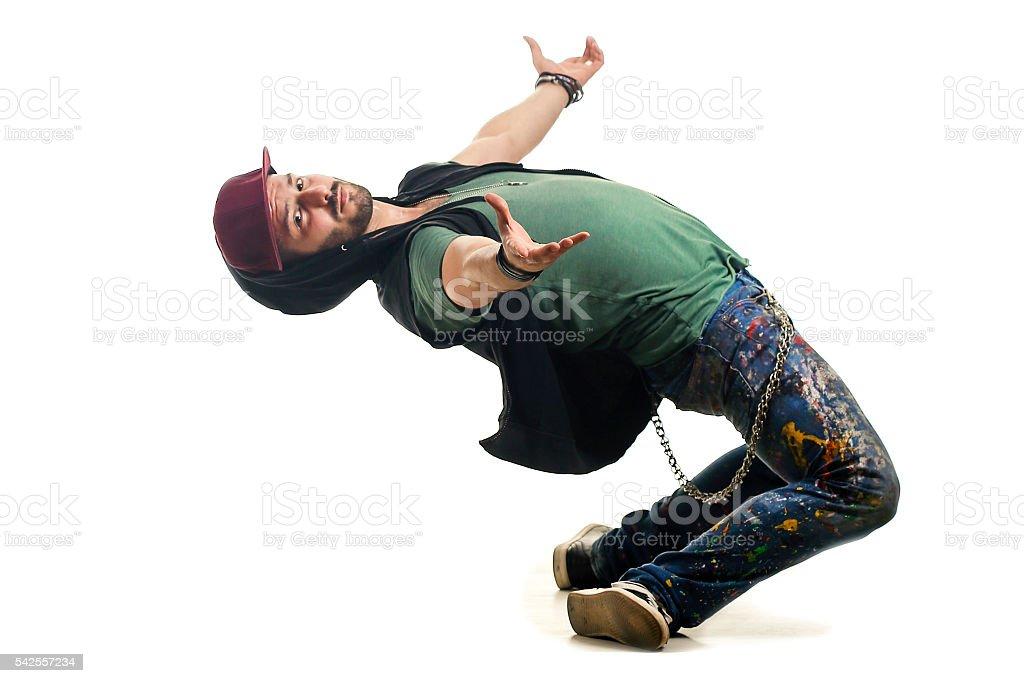 Limbo dancer stock photo