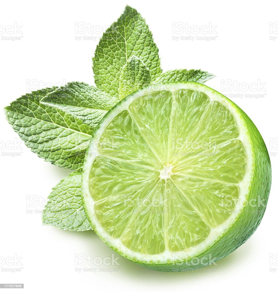 Lime and mint stock photo