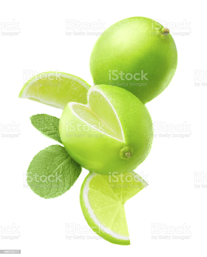 Lime and mint royalty-free stock photo