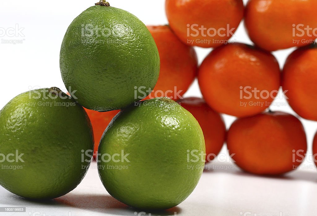 Lime and tangerines royalty-free stock photo