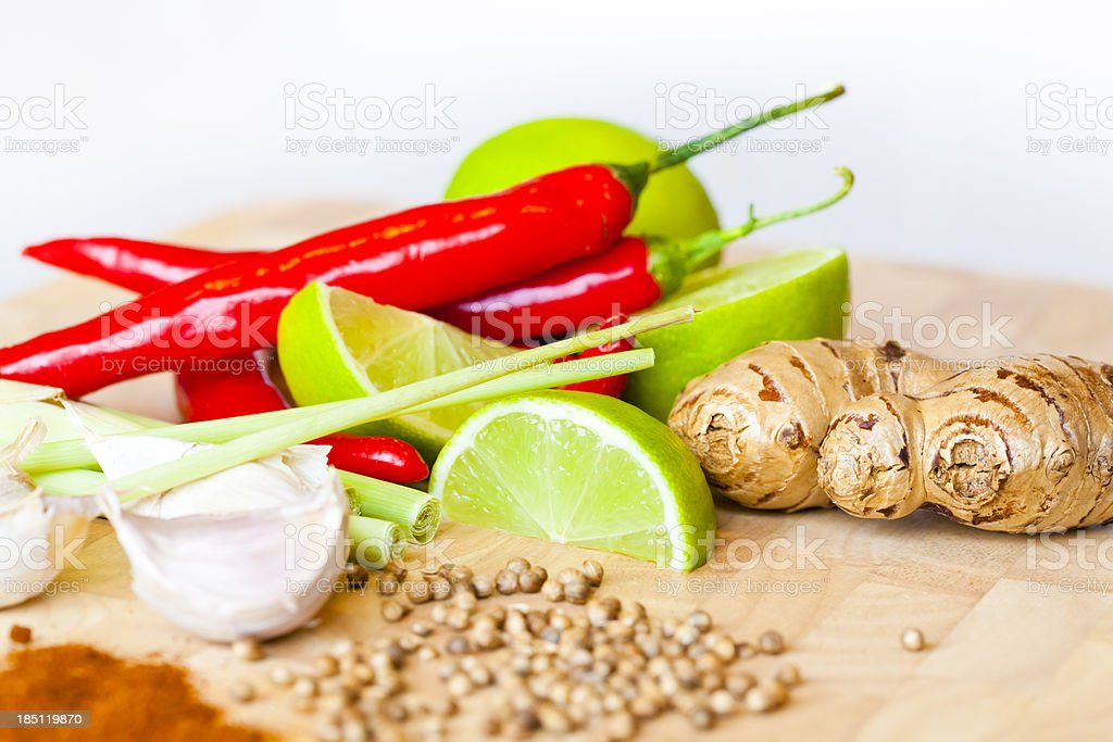 Lime Chilli Ginger royalty-free stock photo
