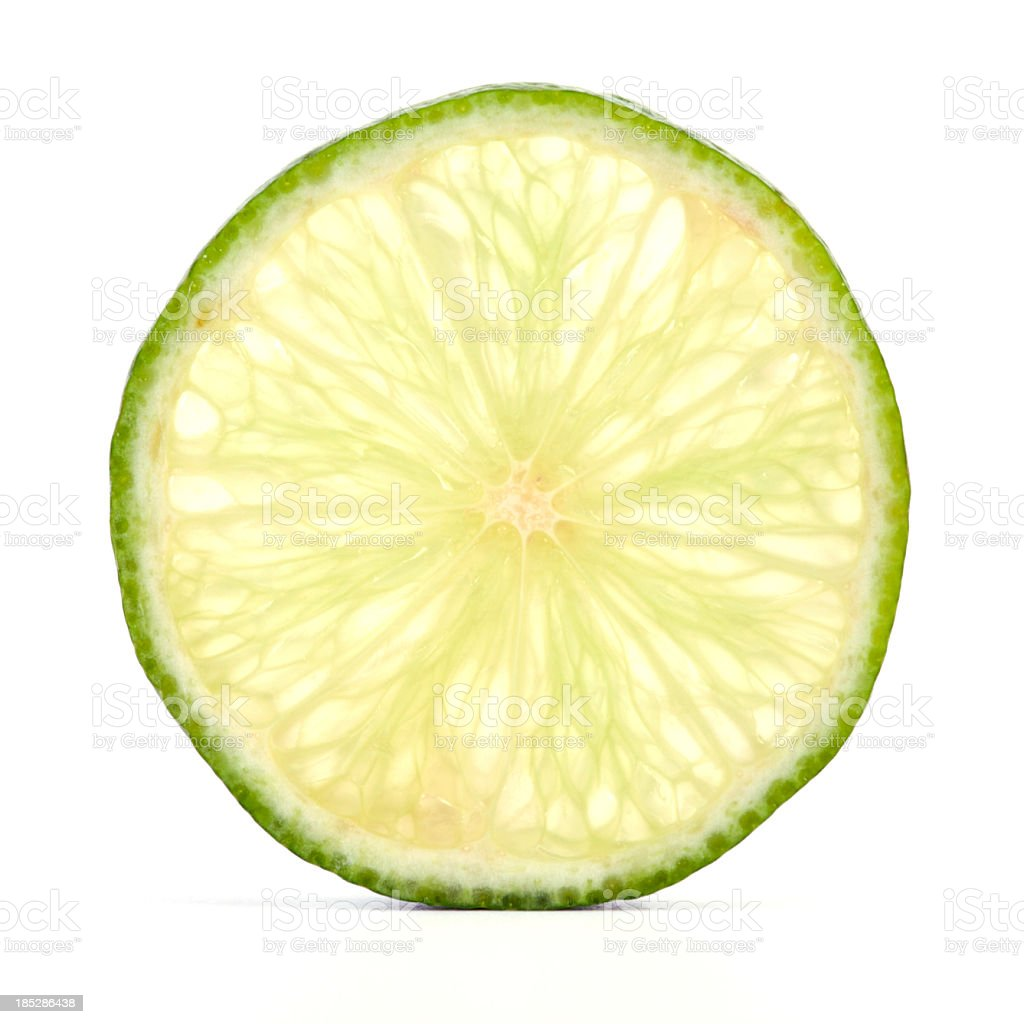 Lime cross section stock photo