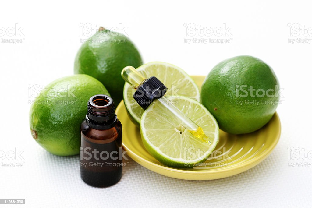 lime essential oil royalty-free stock photo
