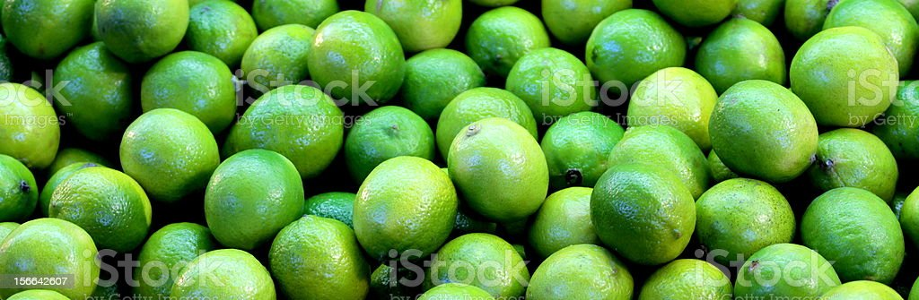 Lime fruits banner stock photo