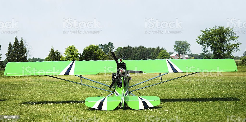 Lime Green airplane stock photo