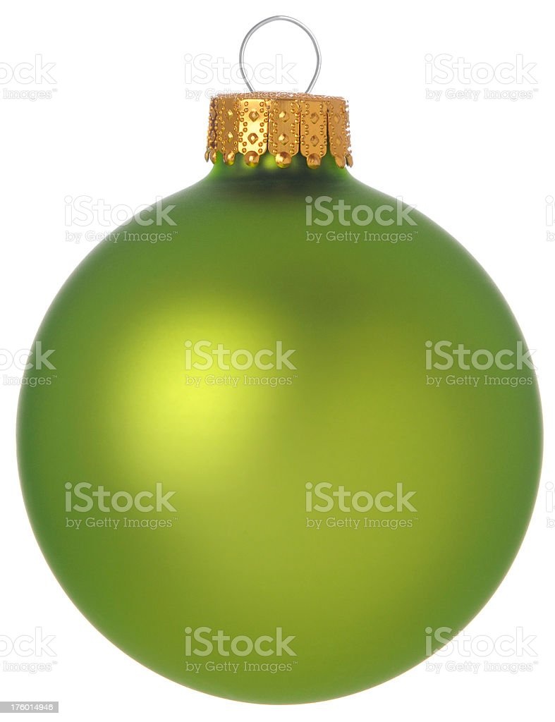 Lime Green Bauble royalty-free stock photo