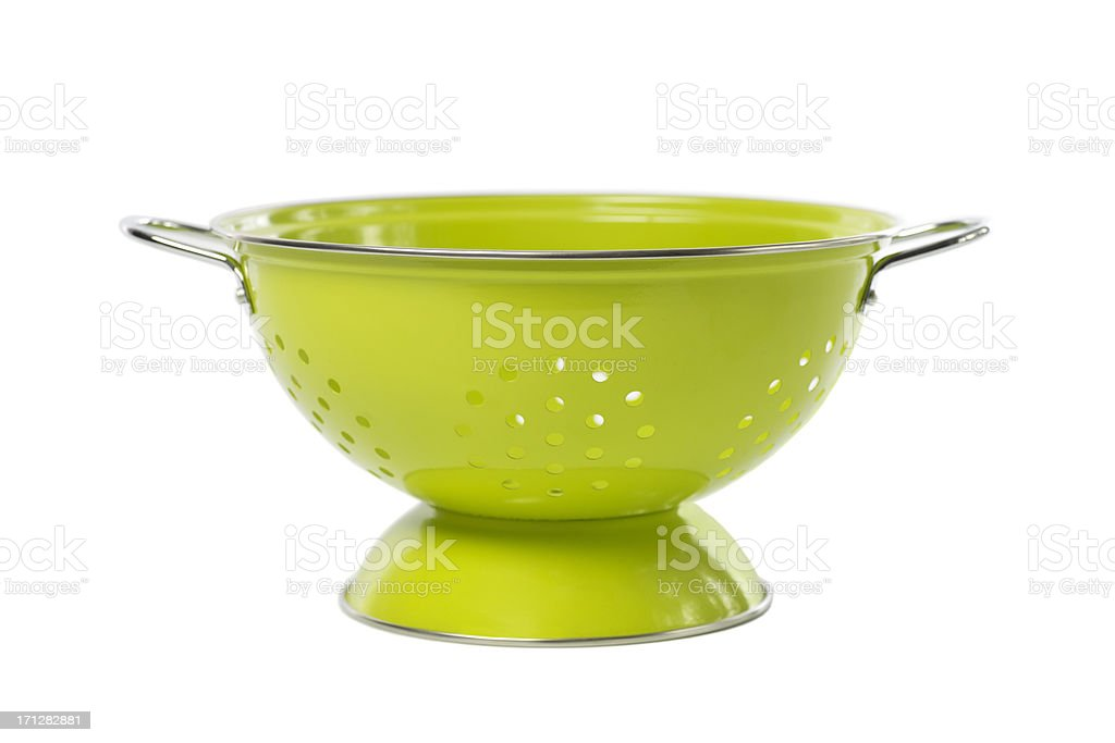 Lime Green Colander... stock photo
