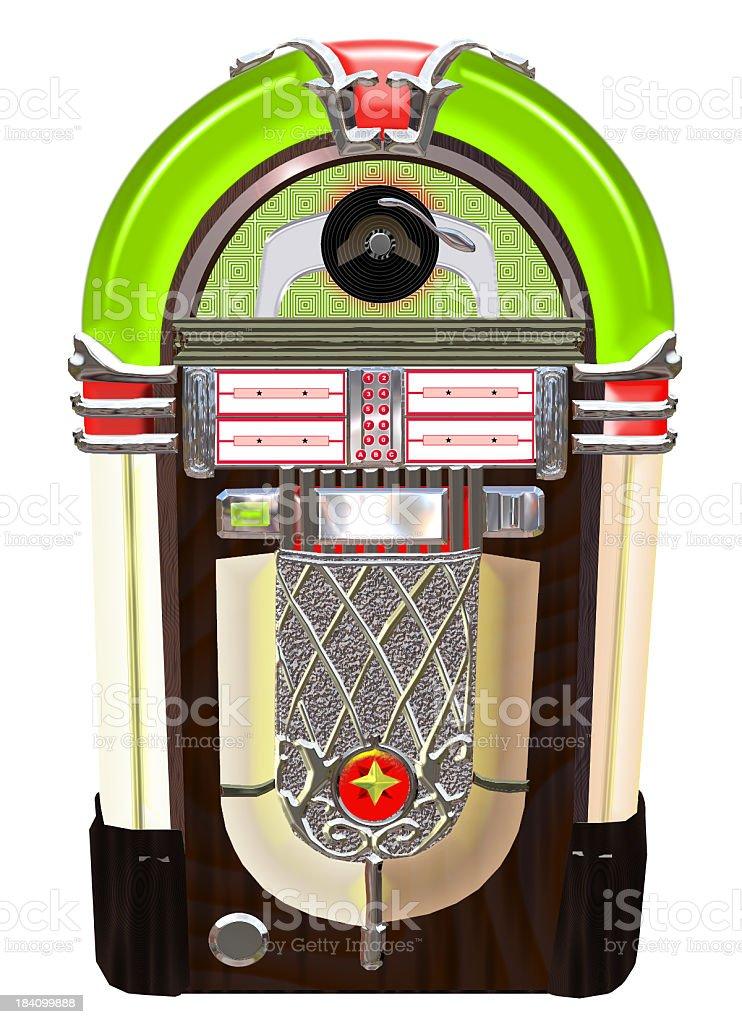 Lime green Jukebox royalty-free stock photo